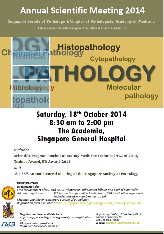 SSP ANNUAL SCIENTIFIC MEETING FLYER