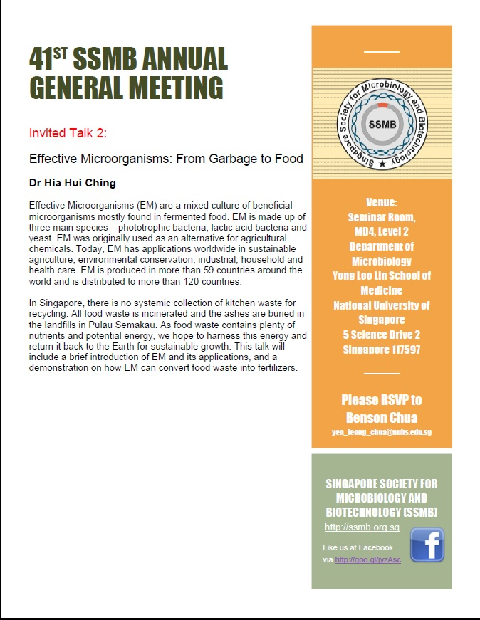 41st SSMB Annual General Meeting Invited Talk 2